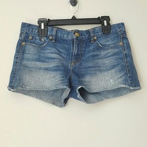J Crew denim cut off shorts